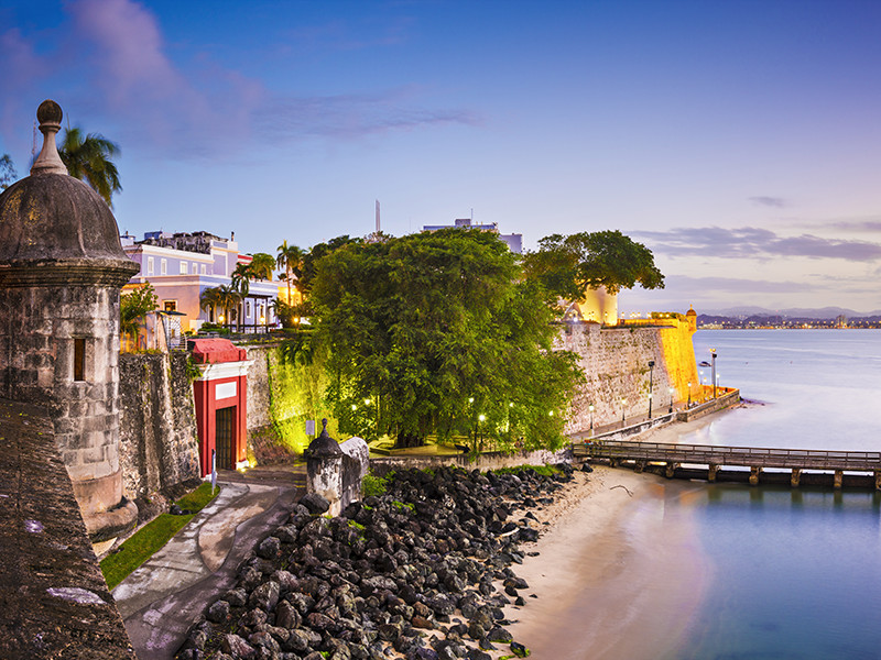 Day or night the walled citiy of Old San Juan is bustling music drinks and dancing
