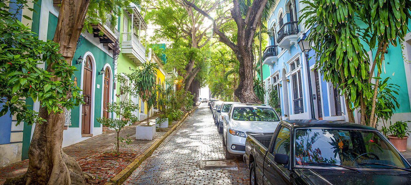Old San Juan's colored streets are a picturesque place for your bachelorette to celebrate
